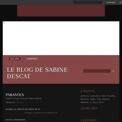 Le blog de sabine DESCAT