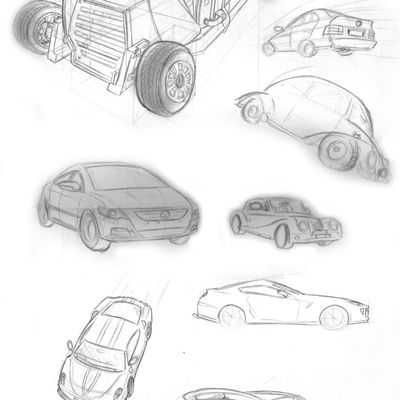Semaine 1 : Cars Sketches...