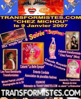 Les faux-semblants chez Michou le 9 janvier 2007 pour l'aniversaire de Transformiste.com