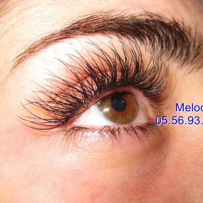 Extension de cils par Melody