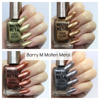 Barry M Molten Metal Collection Summer 2016 - Review & Swatches