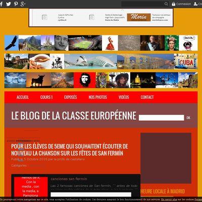 Le blog de la classe Européenne