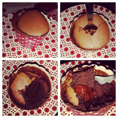 Petit gâteau fondant praliné