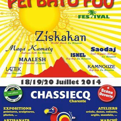 Festival Péi Bato Fou à Chassiecq (16) les 18, 19, 20 juillet 2014