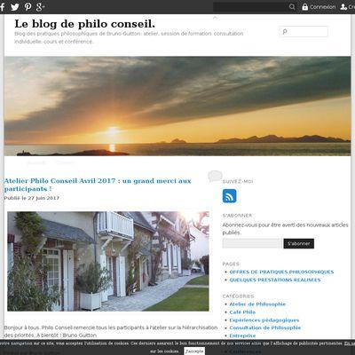 Le blog de philo conseil.