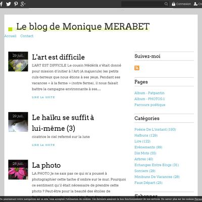 Le blog de Monique MERABET