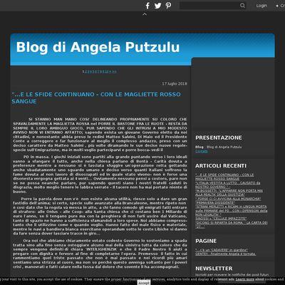 Blog  di Angela Putzulu