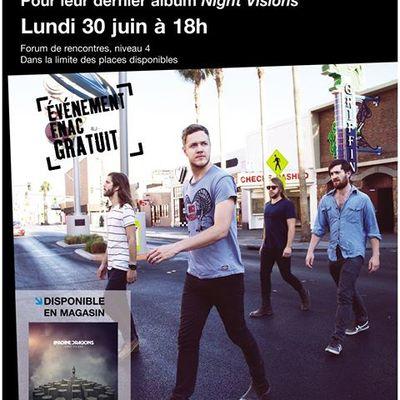 Séance de dédicaces d'Imagine Dragons à Paris