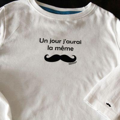 Tee-shirt moustache !