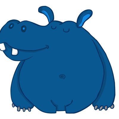 The Blue Hippo .