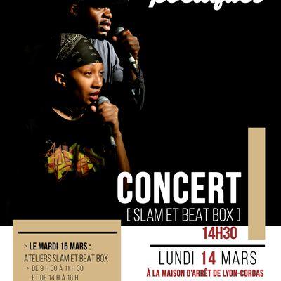 Concert et ateliers à la prison de Corbas - 14 et 15 mars 2016