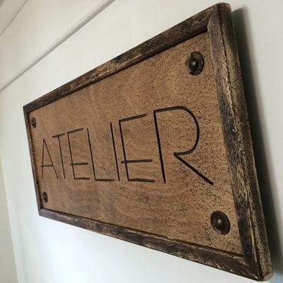 """Panneau - Pancarte """"ATELIER"""""""