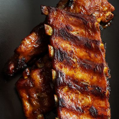 Travers de porc ou ribs sauce barbecue