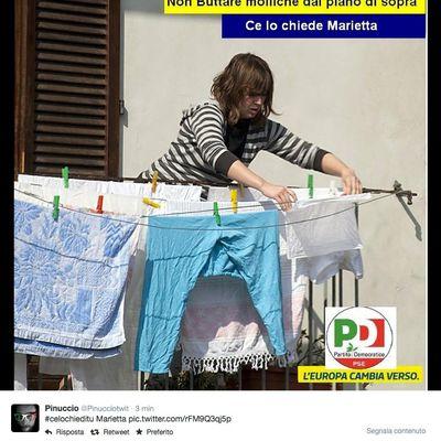 Satira sulla propaganda elettorale del PD