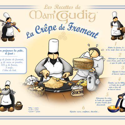 La recette de la crêpe de froment