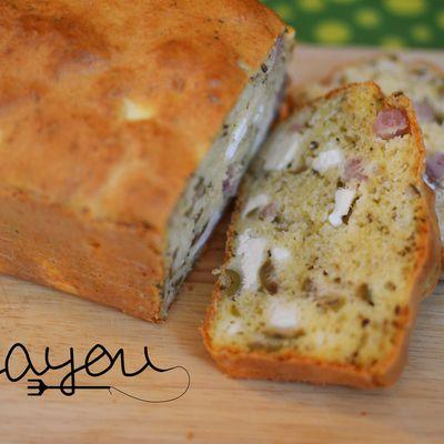 Cake olive feta jambon
