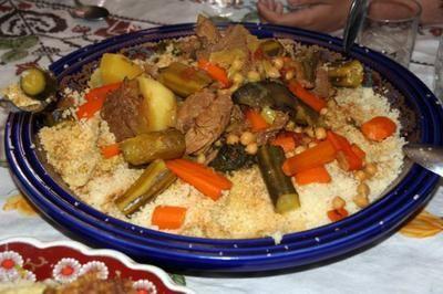 Couscous mit Rindfleisch und Gemüse
