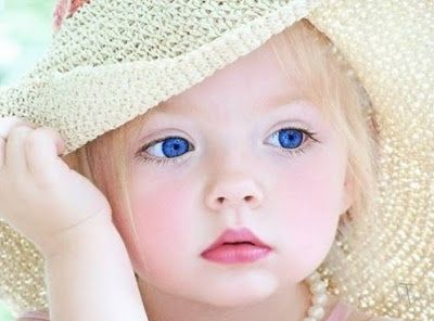 Very Beautiful Kid with Blue Eyes
