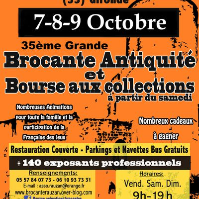 GRANDE BROCANTE ANTIQUITES BOURSE AUX COLLECTIONS