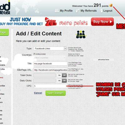 Obtenir rapidement et gratuitement des visites, like, abonné, followers, etc..