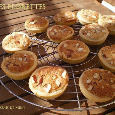 Les florettes, mini tartelettes amandes- abricots...