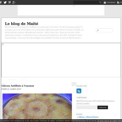 Le blog de Maïté