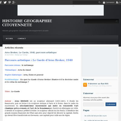 HISTOIRE GEOGRAPHIE CITOYENNETE