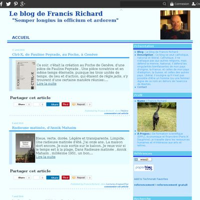 Le blog de Francis Richard