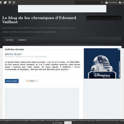 Le blog de les chroniques d'Edouard Vaillant