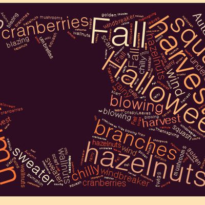 Autumn Word Cloud
