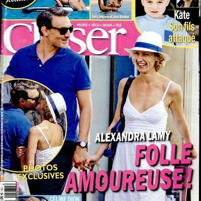 La Une de la presse people ce vendredi : Enora Malagré, Alexandra Lamy, Alessandra Sublet.