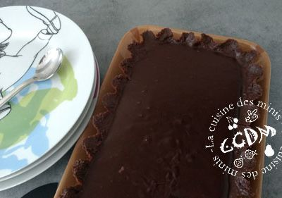 Tarte express aux 2 chocolats - Demarle - Thermomix