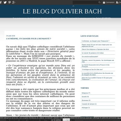 Le blog d'Olivier Bach