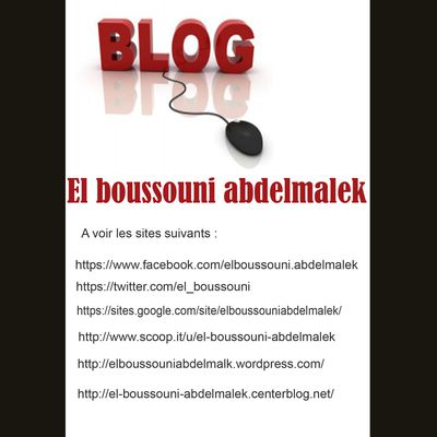 Les pages social media de monsieur el boussouni abdelmalek