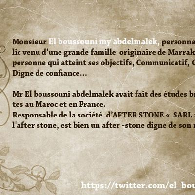 Mr.el boussouni, Profile