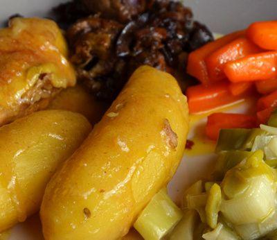 Recette festive : Poularde normande et ses légumes sucrés