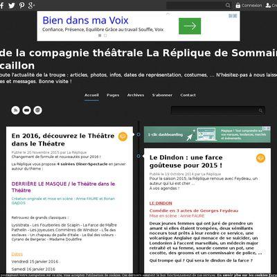 Blog de la compagnie théâtrale La Réplique de Sommaing-sur-Ecaillon