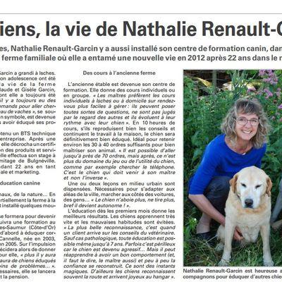les chiens, la vie de Nathalie RENAULT-GARCIN