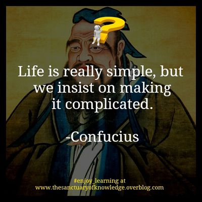 Confucius once said...