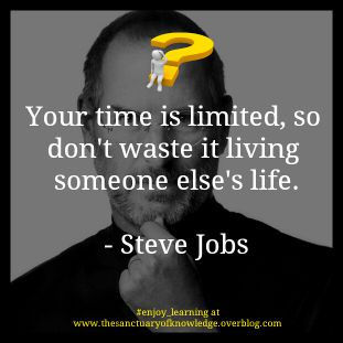 Steve Jobs once said...