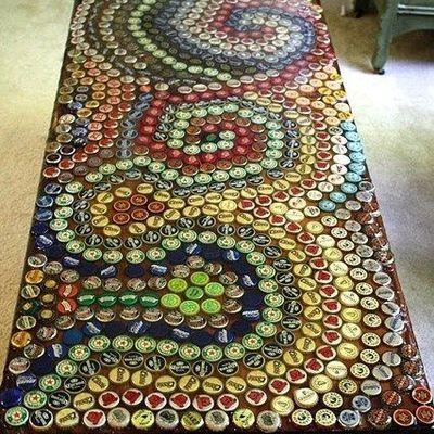 Article spécial Team Manchot: que faire des capsules de bières en déco