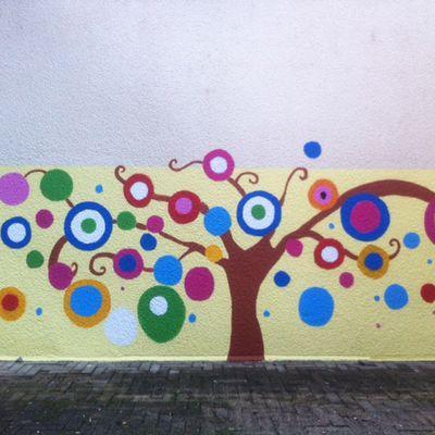 """interventions n°1 """"peintures murales """"en maternelles"""
