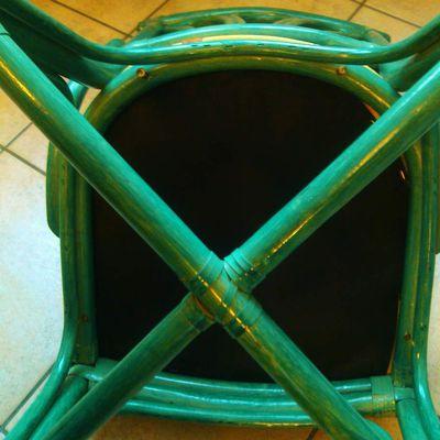 Rénovation chaises : Changer le tissu des coussins en images