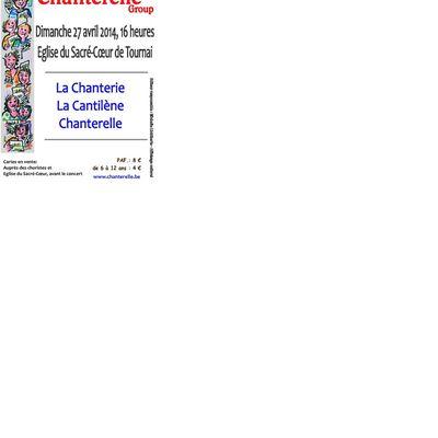 Chanterelle en concert : 27/4/14 Eglise du Sacré Coeur