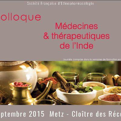 Colloque Médecines & thérapeutiques de l'Inde à Metz le 12 septembre 2015