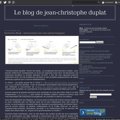 Le blog de jean-christophe duplat