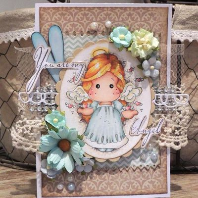 """Carte Magnolia :""""you are my angel"""""""