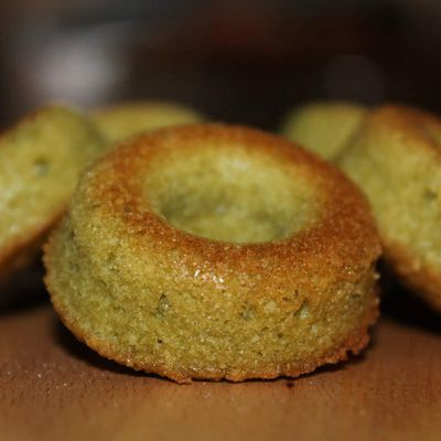 Financier au thé matcha