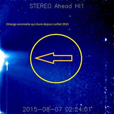 Anomalie sur le soleil Juillet Aout 2015 Stéréo Ahead Hi1