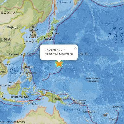 Tremblement de terre M7.7 - 31km SSW of Agrihan, Northern Mariana Islands